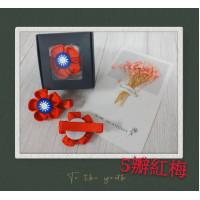 【台灣手作系列】-五瓣紅梅系列原版包裝☆1入裝